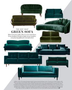 Emerald Sofa Interior Design Trend 2017...see more