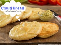 Cloud Bread - This bread recipe is gluten-free and is extremely low-carb!
