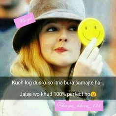 Sanjana V Singh Attitude Quotes For Girls, Girly Attitude Quotes, Girl Attitude, Girly Quotes, Attitude Status, Me Quotes, Motivational Quotes, Crazy Girls, Girls Dp