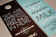 Adorable & Fun door hangers for #mypumpingspace #breastfeeding  Mamas Door Hangers. $6.00, via Etsy. #milkmakers