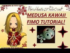 FIMO POLIMERCLAY TUTORIAL MEDUSA KAWAII CUTE! Jellyfish clay!