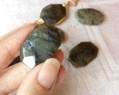 Chunky Gemstone Boho Long Leather Wrap Bracelet by NonaDesigns