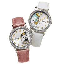 "Disney Sparkle Watch - Silvertone case with rhinestone bezel. Leatherlike strap, 9"" L. ©Disney Regularly $34.99, buy Avon Disney products online at http://eseagren.avonrepresentative.com"