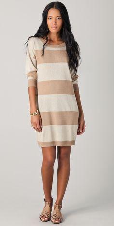 Haute Hippie Striped Sweater Dress thestylecure.com
