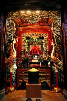 Altar in a Vietnamese temple near Hanoi.