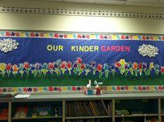 Kindergarten spring bulletin board