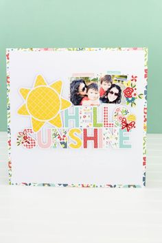 July Projects-2717 Make Your Own, Make It Yourself, Echo Park Paper, Hello Sunshine, Say Hello, Card Stock, Frame, Projects, Blog