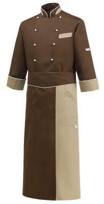 CHAQUETA COCINERO BROWN HEAT EGOCHEF Mod. 104031 65% Polyester - 35% Cotton
