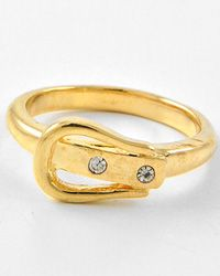 Checkout this amazing deal New Gold Tone Clear Rhinestone / Size 8 Ring,$7.95