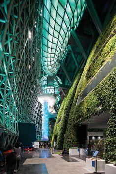 신청사 1층 아트리움의 그린월(Green Wall)에는 10여 종, 약 6만 5천본의 식물이 자라고 있다. 건축가는 벽이라는 '장치'를 통해 건물과 광장 사이를 이어지게 했다.   Lexus i-Magazine Ver.5 앱 다운로드 ▶ www.lexus.co.kr/magazine #Lexus #Magazine #instudio #architect