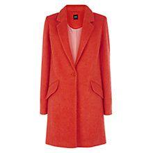 Buy Oasis Katy Car Coat, Coral Online at johnlewis.com