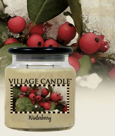 Winterberry| New Kitchen Collection - Woodsy scent of cedar and blue spruce, mingled with wild blackberries, and a touch of raspberry. $14.00 #candles #kitchen #homedecor