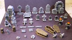 Graveyard Accessory Kit - Miniature Fantasy Game Terrain | Knight Watch Games