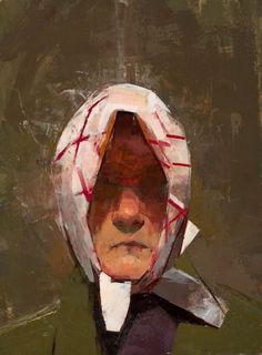 "Catherien Kehoe - Babushka 2009 oil on panel 8""x6"""