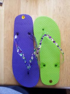 Dancing shoes.... Purple and green wedding