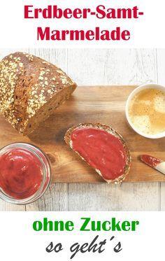 Diese leckere Marmelade kommt ohne Zucker und nur mit 2 Zutaten aus. Für ein gesundes und leckeres Frühstück am Morgen.