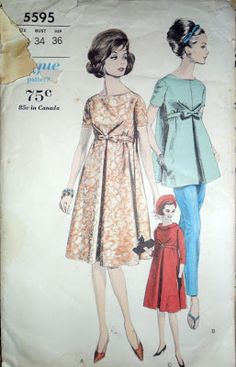 Vintage Vogue maternity pattern