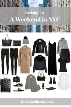 Packing List for NYC // New York City // What to Pack for New York City // Carry-On // How to Pack a Carry-On // What to Wear in NYC