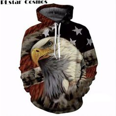 Men Zipper Sleeveless Hoodie USA American Flag 3D Print Sweatshirts Hoodies Tops