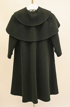 Coat - Back View. Madame Gres - 1975   Reminds me of the Regency dandys' multi-caped coats of the early 19th century.