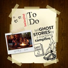 KOA Camping Bucket List - Tell ghost stories around the campfire