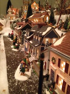 Department 56 New England village street