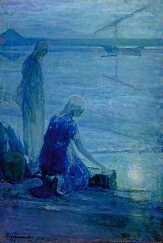 Henry Ossawa Tanner:  Moses in the Bullrushes (1921)