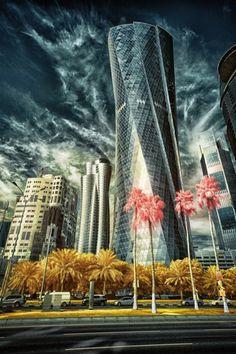 Doha Infrared Photography, Photography Gallery, Marina Bay Sands, New York Skyline, Fair Grounds, Nature, Doha, Travel, Painting