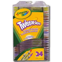 11- Crayola Twistable Coloured Pencil 24 Pack
