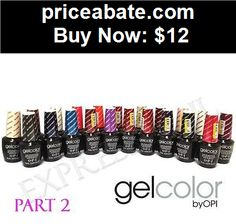 nails: OPI GelColor UV/LED Soak Off Gel Color Nail Polish .5 oz 15 mL PART 2 - BUY IT NOW ONLY $12