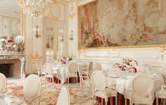 The Ritz Paris has finally reopened, see inside it here: What a spot to host a party, the reception salon.