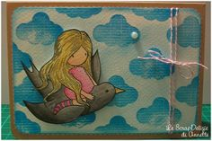 "Card ""Flying Above It All"" #scrapbooking #card #gorjuss"
