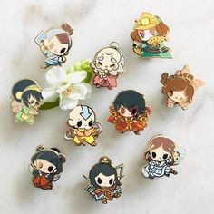 ❀ ATLA Enamel Pin Series ❀ ☆ - gold-plated hard enamel ☆ 2 posts with rubber clutches includes all ATLA pins ! please read the grading guide before purchase ! Avatar The Last Airbender Art, Cool Pins, Vintage Paper Dolls, Pin And Patches, Hard Enamel Pin, Pin Badges, Pin Collection, Pokemon, Geek Stuff