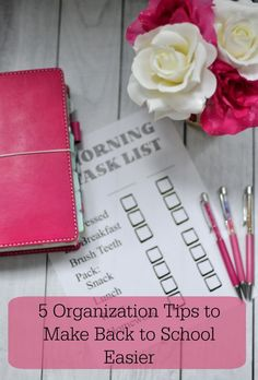 5 Organization Tips to Make Back to School Easier