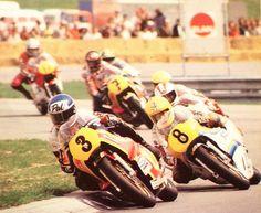1978 at Jarama, Pat Hennen @SuzukiOfficial took his final GP win from Roberts, Katayama Pic: Salzburgring
