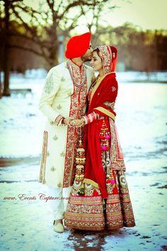I love this picture!Really nice garments and also pretty photo INDIA Sikh Wedding, Punjabi Wedding, Wedding Attire, Wedding Dress, Big Fat Indian Wedding, Indian Bridal, Indian Weddings, Hindus, Indian Dresses