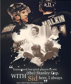 Evgeni Malkin on Sidney Crosby