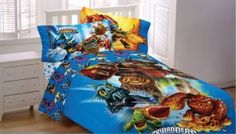 Awesome Skylanders Bedding Set Comforter, FLat Sheet, Fitted Sheet And Pillowcase