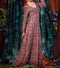 Red Bamboo Knitwear Jacquard Natali Maxi Dress #Indianfusionwear #designerwear #jackets #dresses #tops