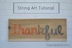 How to make string art words with multiple colors #stringart