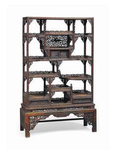 Asian Furniture, Chinese Furniture, Unique Furniture, Tiny Cabins, Chinese Art, Beautiful Homes, Oriental, Shelf, Interiors