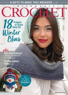 In this digital edition of Interweave's Crochet, Winter 2020 you'll find all the crochet projects and techniques to create trending winter fashion staples and holiday gifts. Interweave Crochet, Tunisian Crochet, Free Crochet, Knit Crochet, Crochet Hats, Crochet Clothes, Knitting Magazine, Crochet Magazine, Double Crochet