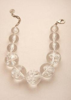 BEN-AMUN Large Lucite Ball Necklace