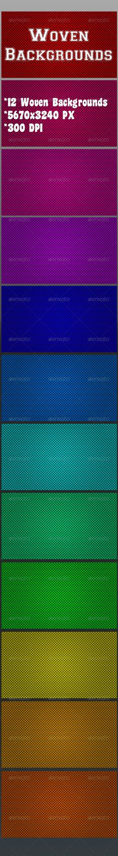Woven Backgrounds by ClauGabriel *12 Woven Backgrounds *5760脳3240 PX *300 DPI *JPEG