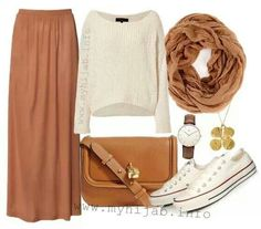 Ideas For Skirt Outfits Fall Casual Color Combos Modest Dresses, Modest Outfits, Skirt Outfits, Fall Outfits, Cute Outfits, Muslim Fashion, Modest Fashion, Hijab Fashion, Fashion Outfits