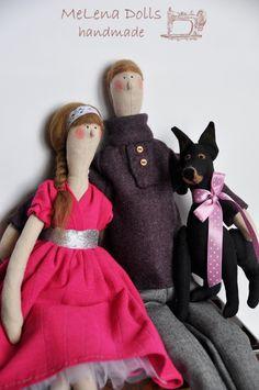 Melena Dolls by Elena Kolodko  Family www.facebook.com/... Tilda Doll - Tildas - Handmade - Sewing