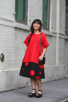 The Most Authentically Inspiring Street Style From New York #refinery29  http://www.refinery29.com/2015/09/93788/ny-fashion-week-spring-2016-street-style-pictures#slide-93  Connie Wang playing with proportions....