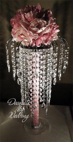 DECORATE MY WEDDING Crystal Centerpiece with Arch ALEXANDRA