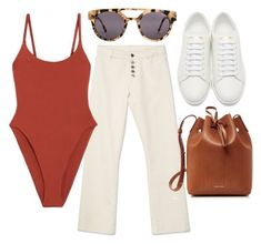 """""""Untitled #22636"""" by florencia95 ❤ liked on Polyvore featuring Alix, Yves Saint Laurent, Komono and Mansur Gavriel"""