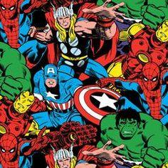 de76da5c155 Marvel Jersey Knit Fabric Star Comics, Marvel Comics, Comics Love,  Childrens Wall Art